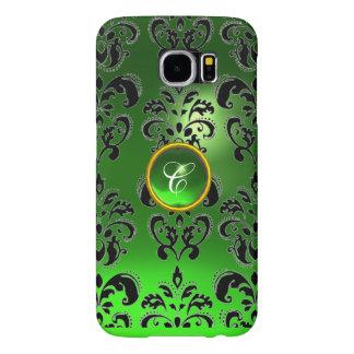 DAMASK GEM MONOGRAM green Samsung Galaxy S6 Cases