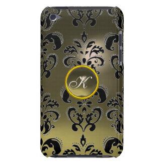 DAMASK GEM MONOGRAM grey iPod Case-Mate Case