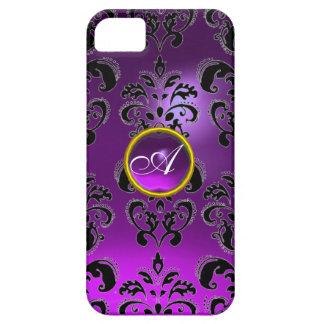 DAMASK GEM MONOGRAM purple iPhone 5 Cases