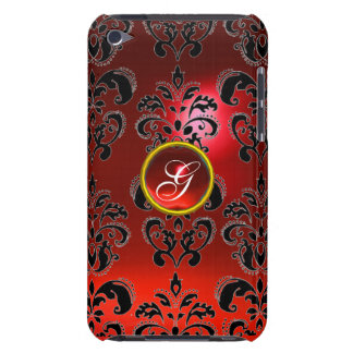 DAMASK GEM MONOGRAM red iPod Touch Cover