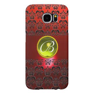 DAMASK GEM MONOGRAM Yellow red Samsung Galaxy S6 Cases