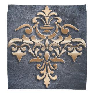 Damask golden element. bandana