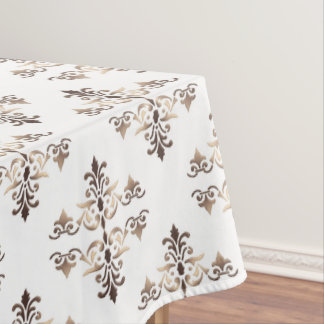 damask golden pattern tablecloth