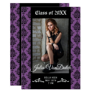 Damask Graduation Announcement/Party Invitation