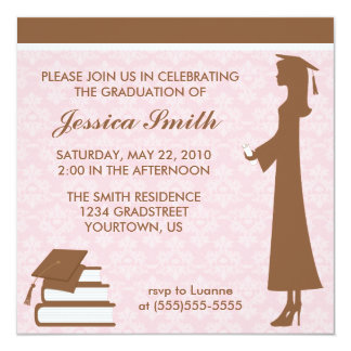 Damask Graduation Invitation