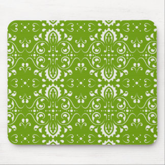 Damask - Green Mouse Pad