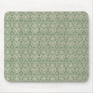 Damask Green Pattern Mouse Mat