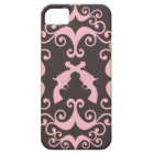 Damask guns grunge western pink goth pattern case for the iPhone 5
