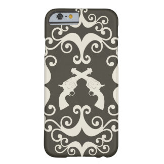 Damask guns grunge western pistols revolvers case barely there iPhone 6 case