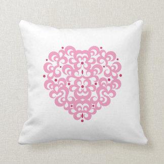 Damask Heart Throw Pillow Throw Cushions