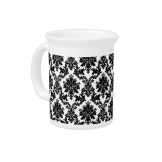 Damask home decor pitcher