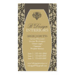 Damask Interior Decorator Business Cards