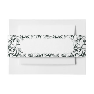 Damask Invitation Belly Band