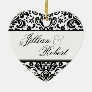 Damask Keepsake Ornament
