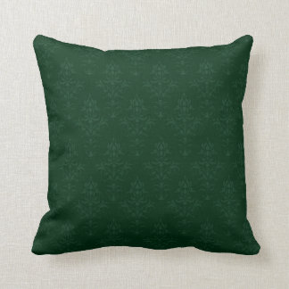 Damask Look Cushion in Dark Green