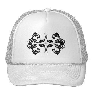 Damask Monogram Design Trucker Hat