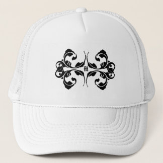 Damask Monogram Design Trucker Hat