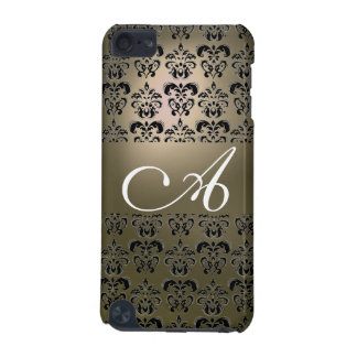 DAMASK  MONOGRAM grey iPod Touch (5th Generation) Case