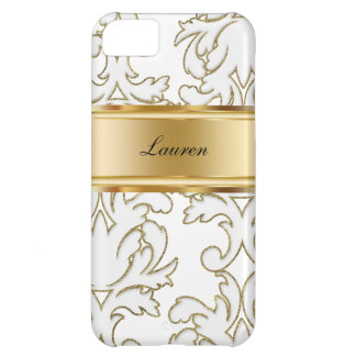 Damask Monogram iPhone 5C Cases