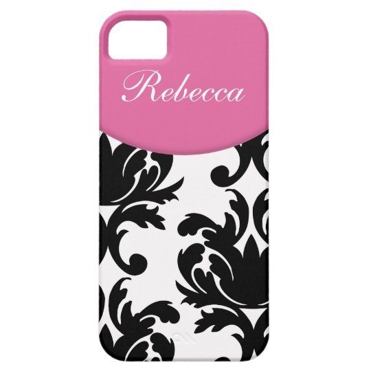 Damask Monogram iPhone 5S Cases