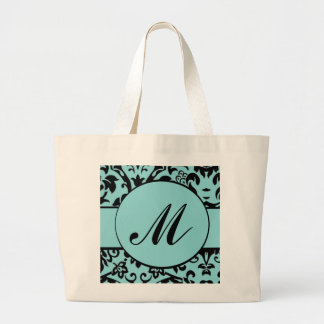 Damask Monogram Large Tote Bag