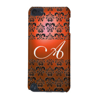 DAMASK  MONOGRAM orange iPod Touch (5th Generation) Covers