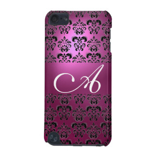 DAMASK  MONOGRAM pink iPod Touch (5th Generation) Case