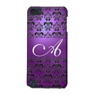 DAMASK  MONOGRAM purple iPod Touch (5th Generation) Covers