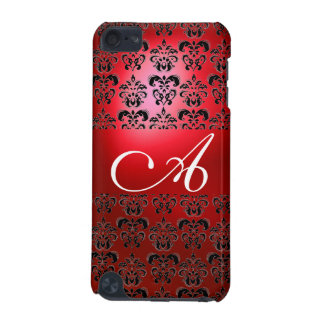 DAMASK  MONOGRAM red iPod Touch 5G Case