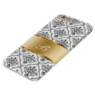 Damask Monogram Style Barely There iPhone 6 Plus Case