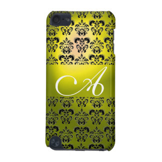 DAMASK  MONOGRAM yellow iPod Touch 5G Case