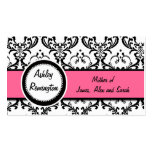 Damask Mummy Calling Cards Pink Business Card Templates