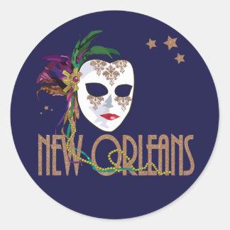 Damask New Orleans Mask Sticker