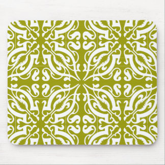 DAMASK - Olive Green Mouse Mat