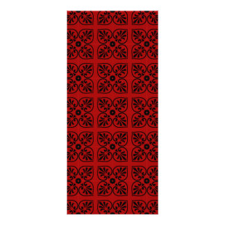 Damask on dark red custom rack cards