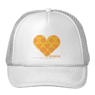 Damask Orange-Yellow 2 Hat