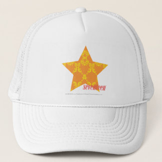Damask Orange-Yellow 3 Trucker Hat