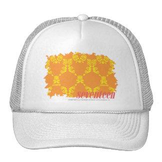 Damask Orange-Yellow 4 Cap