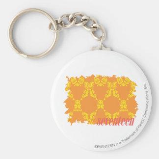 Damask Orange-Yellow 4 Key Ring