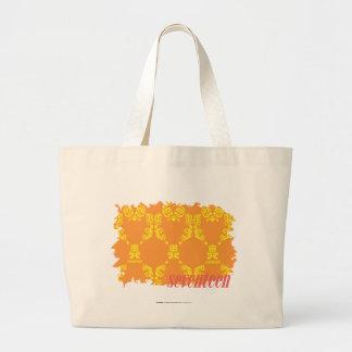 Damask Orange-Yellow 4 Large Tote Bag