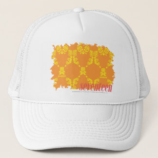 Damask Orange-Yellow 4 Trucker Hat