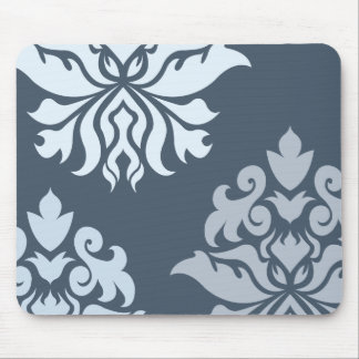 Damask Ornate Montage Blues II Mouse Mat