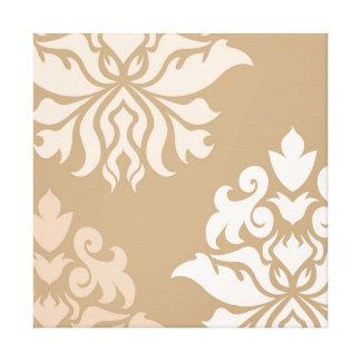 Damask Ornate Montage - Cream & Beige Tones Canvas Print
