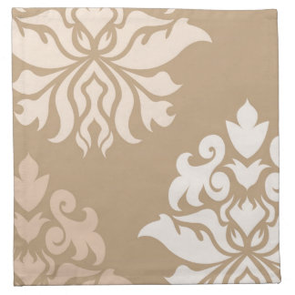 Damask Ornate Montage - Cream & Beige Tones Napkin
