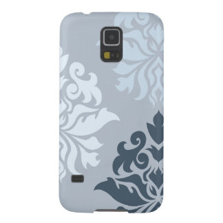 Damask Ornate Montage II Blues A Galaxy S5 Covers