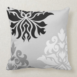 Damask Ornate Montage Monochrome I Cushion