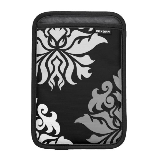 Damask Ornate Montage Monochrome II iPad Mini Sleeve