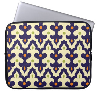 Damask paisley arabesque Moroccan pattern girly Laptop Computer Sleeves
