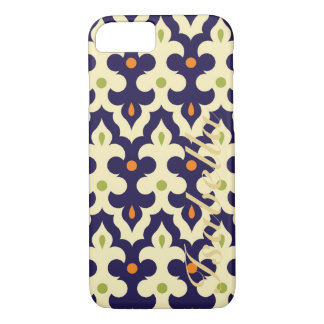 Damask paisley arabesque Moroccan pattern name iPhone 7 Case