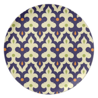 Damask paisley arabesque Moroccan pattern Plate